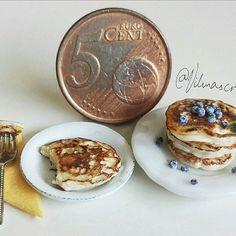 #miniature #food #minifood #blueberry #pancakes
