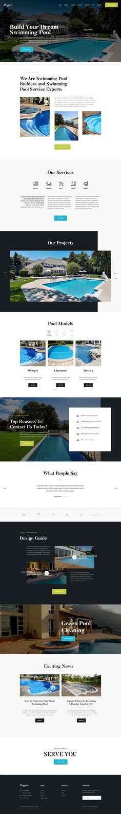 Our new micro niche WordPress theme is an ideal web solution for swimming pool building and swimming pool maintenance services. As well as it can be a plumbing firm website, or backyard design agency. Basically, it can fit for any home repair and maintena…