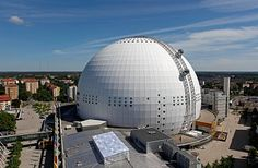 The Ericsson Globe – SkyView - Sights in Stockholm - Sweden - City Guides – N by Norwegian Sistema Solar, Solar System To Scale, Our Solar System, Stockholm City, Stockholm Sweden, Sweden Cities, Geodesic Dome Homes, About Sweden, Sports Stadium