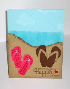Fun Wedding or Wedding Shower card. Glitter Ink: Fresh Squeezed Summer