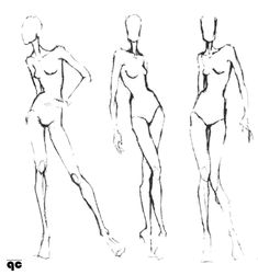 Fashion Illustration Templates Front And Backfashion Illustration Guides Croquis Poses Quality Control Dxcyed