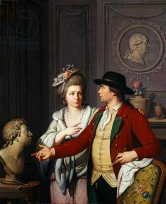 Samuel Nahl Shows his Bride a Bust of his Brother, 1782 (oil on canvas), Johann August the Younger Nahl, Neue Galerie, kassel, Germany