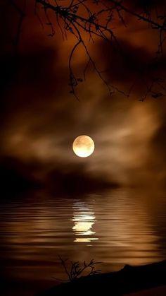 Moon on water Moon Shadow, Moon Photography, Landscape Photography, Beautiful Sky, Beautiful Landscapes, Nature Pictures, Beautiful Pictures, Shoot The Moon, Moon Photos
