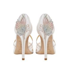 Ivory Lace Butterfly Wedding Heel By Claire Pettibone. Claire Pettibone, Bridal Shoes, Wedding Shoes, Wedding Dresses, Bridal Footwear, Ivory Wedding, Pretty Shoes, Beautiful Shoes, Beautiful Women