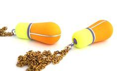 Helena Johansson Lindell: jelly I & II necklaces, plastic, aluminium, brass, 2013 Plastic Jewelry, Jewelry Art, Jewellery, Jelly, Contemporary Art, Objects, Sculpture, Orange, Brass