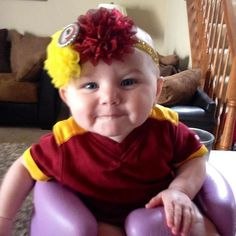 The newest Redskinette Eila sent in by Brenda! #Redskins My baby made it on the Washington Redskins Official Pinterest Board!!
