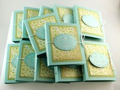 Tea Party Favors - Tea for Two packs made with Stampin' Up! Tea Shoppe stamp set - hold 2 tea bags each.