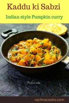 This khatta meetha kaddu or pumpkin curry is a popular breakfast or meal main. It goes well with rotis or puris. This is also a popular Indian vrat recipe. Do try this easy and nutritious kaddu ki sabzi recipe. Veg Recipes, Curry Recipes, Easy Dinner Recipes, Indian Food Recipes, Vegetarian Recipes, Cooking Recipes, Healthy Recipes, Ethnic Recipes, Recipes
