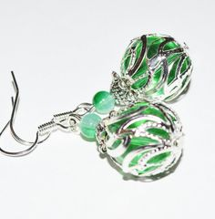 Hey, I found this really awesome Etsy listing at https://www.etsy.com/listing/231088367/green-chic-silver-simple-earrings