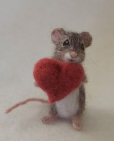 Your place to buy and sell all things handmade Needle Felted Mouse Poseable Realistic Life Sized Needle Felted Animals, Felt Animals, Cute Animals, Zoo Animals, Felted Wool Crafts, Felt Crafts, Mouse Crafts, Needle Felting Tutorials, Felt Mouse