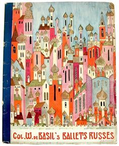 Ballets Russes program, from Russian Art and Books, via words and eggs