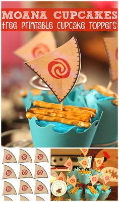 Moana Birthday Party Theme, Birthday Party Treats, Princess Theme Party, Disney Birthday, 6th Birthday Parties, 3rd Birthday, Moana Printables, Free Printables, Disney Recipes