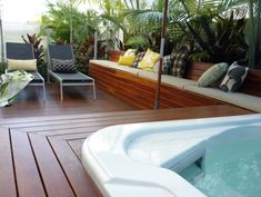 Exterior Built In Deck Bench Design, Pictures, Remodel, Decor and Ideas - page 5