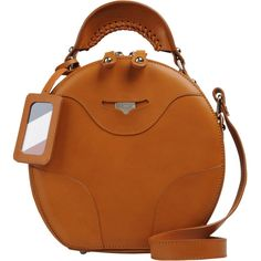 CARVEN Medium leather bag ($1,060) ❤ liked on Polyvore