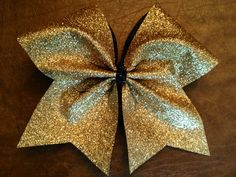 Cheer+Bow++Gold+Glitter+by+FullBidBows+on+Etsy,+$13.00