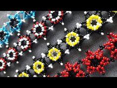 Beaded Bracelets Tutorial, Beaded Jewelry Patterns, Bead Jewellery, Seed Beads, Flowers, Beading, Bracelets, Tutorials, Manualidades