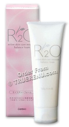 Ozeki R2O Active Skin Care - Moisture Balance Face Wash Foam  - no fragrance, colorants, mineral oils or alcohol.