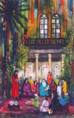 afternoon gathering,  Iraqi art