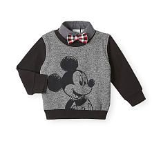 Soft cotton and a Mickey Mouse embellishment will delight and excite your little Disney fan. He'll love to show off Disney fandom with this adorable sweater. Cute Princess, Princess Outfits, Disney Baby Clothes, Baby Disney, Little Babies, Baby Kids, Future Baby, Dear Future, Kids Fashion Boy