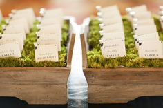 cork escort cards   Etiquette 101: The Difference Between Escort Cards & Place Cards ...