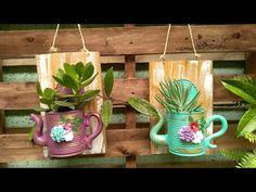 Lata Decorada / Diy / Reciclagem / Lixo ao Luxo - YouTube Diy Home Decor Projects, Diy Home Crafts, Garden Crafts, Diy Arts And Crafts, Garden Projects, Wood Crafts, Garden Art, Tin Can Crafts, Fun Crafts