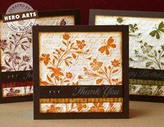 autumn card set (stamp, emboss, distressed)