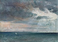 A storm off the coast of Brighton 1924  by John Constable