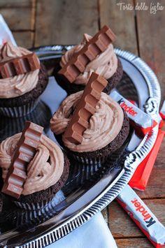 Torta Della Figlia   Kinder Chocolate muffins with a surprise