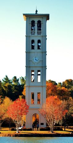 My alma mater, Furman University, in Greenville, SC. One of the top liberal arts universities in the USA! loved the walks round Furman Park University Life, College Campus, Small Towns, South Carolina, Places To Go, Beautiful Places, Around The Worlds, City, Tower Clock