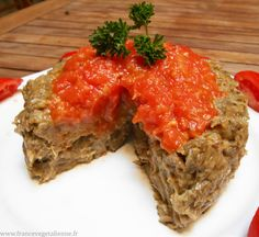 Papeton d'aubergine (sans oeuf) Meatloaf, Tofu, Quiche, Vegetarian Recipes, Recipies, Veggies, Yummy Food, Cooking, Healthy