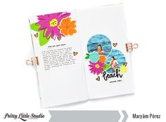 Hello, friends! Maryám here today to share a clean and simple Traveler's Notebook spread using Summer Vibes collection designed by Heather Doolittle.On the right side, I put two circles photos and over them, I added some die-cuts and also the title of my design. On the left side, I decided to…