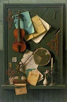 Старый шкаф дверь, 1889 (масло, холст)