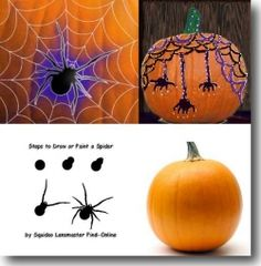 The step-by-step illustrations showing how to draw a spider is great. Useful for the next time you need to decorate a pumpkin (or something else) for Halloween or anytime, just because. Ideas for shading and color highlights are shown on that page too. Great for anyone who enjoys learning to draw or paint various shapes. Pumpkin painting is an alternative to pumpkin carving. Even if you do not often do art-related projects, this is an easy, fun craft project.