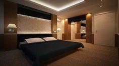 Modern Sky light Bathroom Design designed by Swiss Bureau