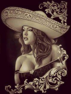 Old school art, Mexicana!