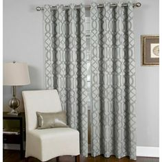 Elrene Latique Grommet-Top Curtain Panel - jcpenney - charcoal  Cute but why were they $40 and now they are $80!!!