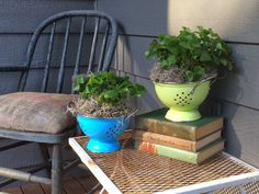 Little Farmstead: Colanders and Clovers {Farmhouse Porch Style}