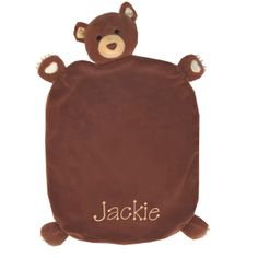 PersonalizeMyBabyBlanket.com -  Apple Park Brown Cubby Picnic Pal Baby Security Blankie Blanket - Personalized Embroidery, $29.99 (http://personalizemybabyblanket.com/apple-park-brown-cubby-picnic-pal-baby-security-blankie-blanket-personalized-embroidery/)