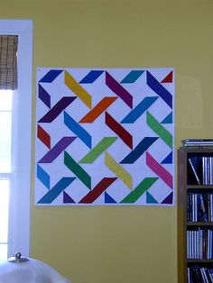 Another quilt using just solids.
