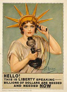 1918 Vintage Advertisements, Vintage Ads, Vintage Posters, Vintage Travel, Vintage Ephemera, Vintage Signs, Pin Up, Photo Statue, Ww1 Propaganda Posters