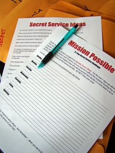 "tHe fiCkLe piCkLe: Secret Service (Activity Days Activity)  Love, love, love this idea!!  Put kids on a ""secret mission"" to help others!"