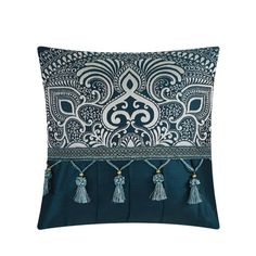 Shop Chic Home 13-Piece Adana Teal Bed in a Bag Comforter Set - Overstock - 18038296 Blue Comforter Sets, Teal Bedding, Silk Bedding, Navy Comforter, Bed In A Bag, Woven Fabric, 1 Piece, Comforters, Decorative Pillows