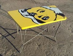 Neat pop art table makeover