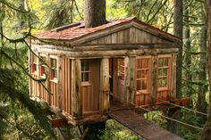 Feel like a kid again and stay in a Treehouse at Treehouse Point in Fall City, Washington!