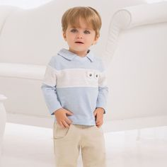 Long Sleeve Cotton T-shirt | Dave Bella Kids Clothes