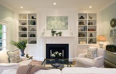 like bookshelves by fireplace  Staged Georgetown Residence 2