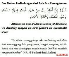 Doa Mohon Perlindungan dari Bala dan Kesengsaraan