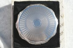 FREE SHIPPING Vintage KIGU Decagon Shape Solid Silver Powder Compact London Hallmark 1966 by thevintagemart on Etsy