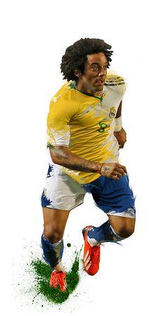 Marcelo. #realmadrid + Brazil