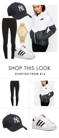 Sporty tumblr fashion by taraaucoin on Polyvore featuring NIKE, Splendid, adidas and Michael Kors